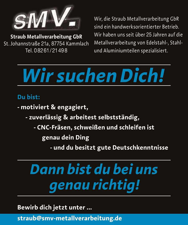 Stellenanzeige SMV Metallverarbeitung